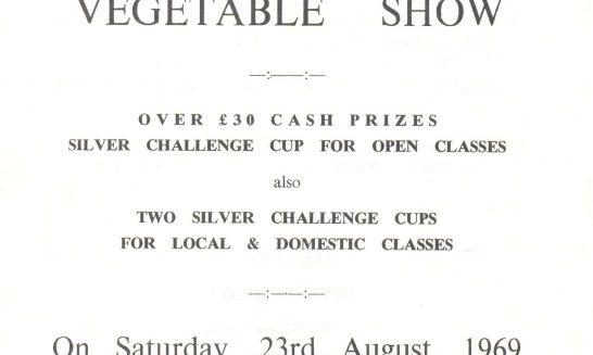 Fruit, Flower & Vegetable Show Schedule, 1969
