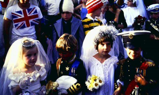 Children in fancy dress at the Royal Wedding Celebrations, 1981