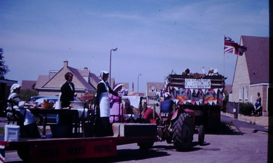 Decorated Floats taking part in Silver Jubilee Celebrations