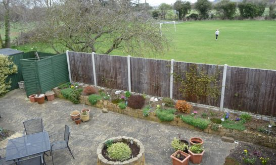 Bearcroft Gardens: view from back garden of No. 8