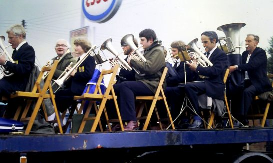Brass Band at the Village Fete, 1980