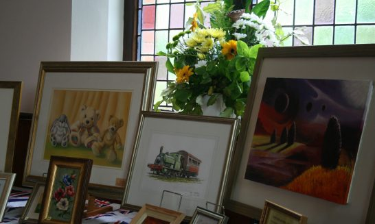 Display of Paintings at the Jubilee Art Exhibition