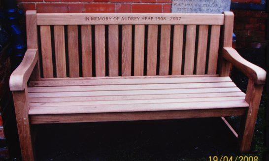Audrey Heap's Memorial Seat