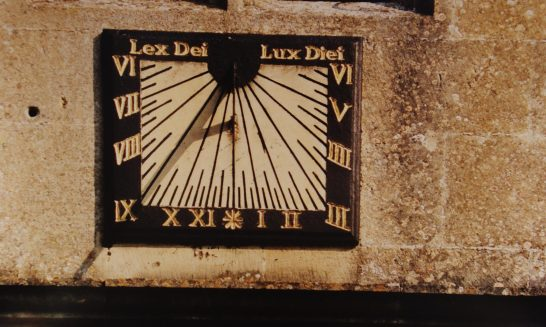 Sundial at St Lawrence Church