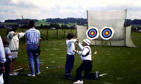 Archery at the Village Fete, 1989