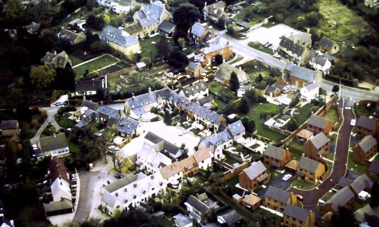 Aerial view of Greyrick and surroundings, 1990