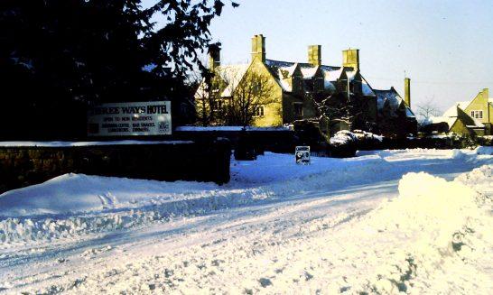 Tudor House in the Snow