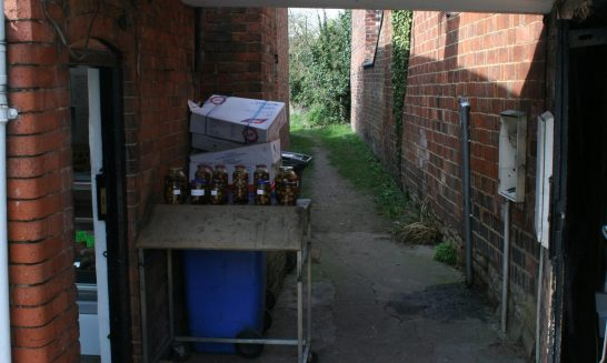 Footpath at side of the Butcher's Shop
