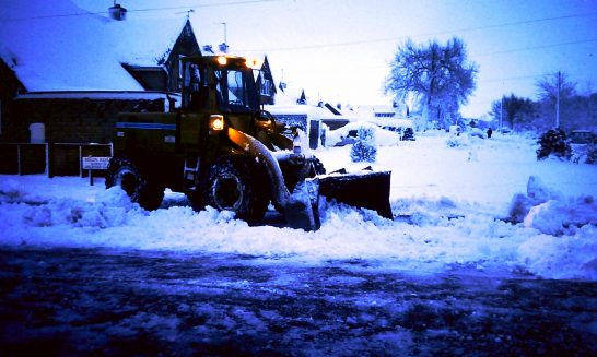Tractor Moving Snow, Winter 1992