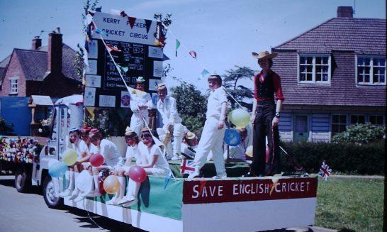 Cricket Club Float taking part in the Silver Jubilee Celebrations.