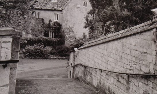 St Lawrence Church Steps and Blenheim Cottage