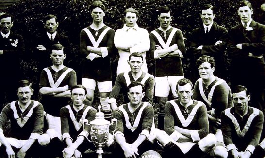Football Team, winners of the Shipston Cup, 1921