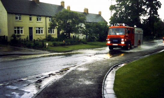 Fire Engine in Floods, May 1992