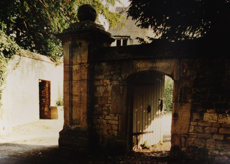 Gate at the Manor   Mickleton Community Archive