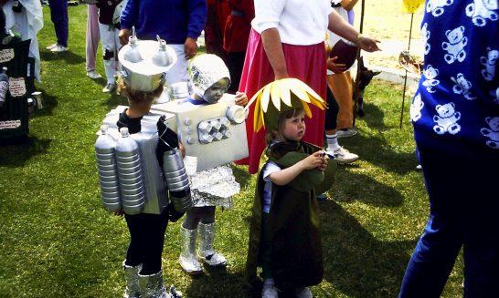 Children in Fancy Dress at the Village Fete, 1989