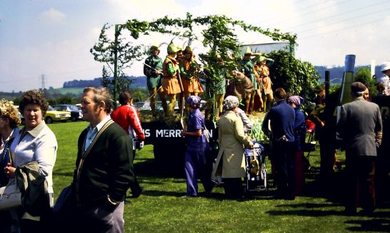 Decorated Float at the Village Fete, 1978