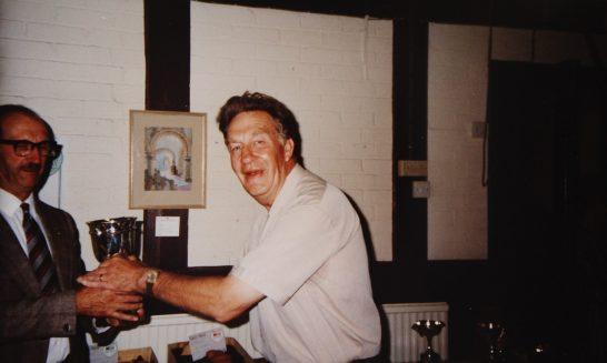 Allen Kitchen Receiving the Cup