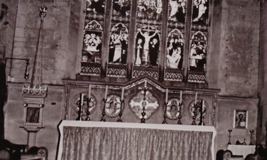 Church of St Lawrence: High Altar and Window