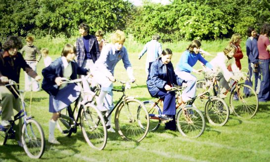 Bicycle Race at the Silver Jubilee Fete, 1977