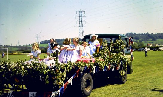 Decorated Float at Mickleton Carnival, 1977