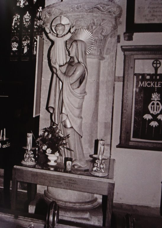 Statue of Mary & Jesus | Mickleton Community Archive