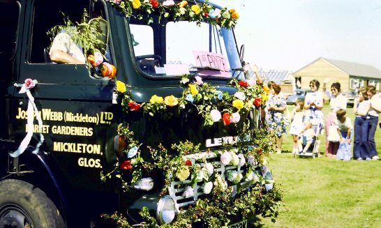 Decorated Float Lorry at Mickleton Fete, 1977